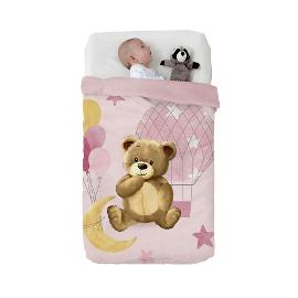 Κουβέρτα Baby Vip Bear in the Moon Pink , Manterol
