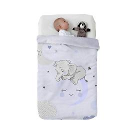 Κουβέρτα Baby Vip Sleeping Elephant Blue , Manterol